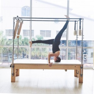 Salamba Sirsasana II (Tripod Headstand). Photo Credit: Maddy Rose at Romney Pilates. May 2016.